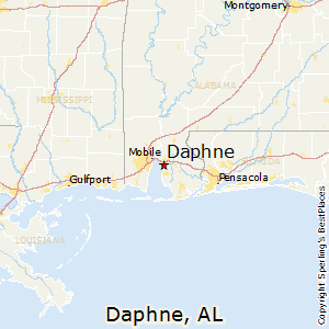 Daphne,Alabama Map