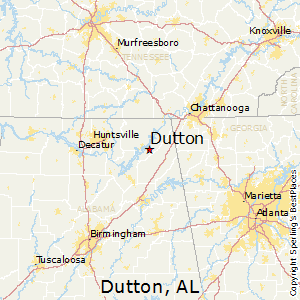 Dutton,Alabama Map