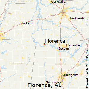 Florence,Alabama Map