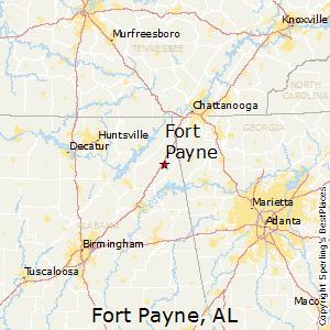 Fort_Payne,Alabama Map