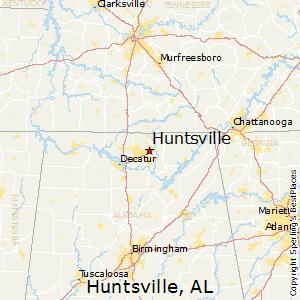 Huntsville,Alabama Map