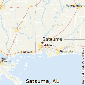 Satsuma,Alabama Map