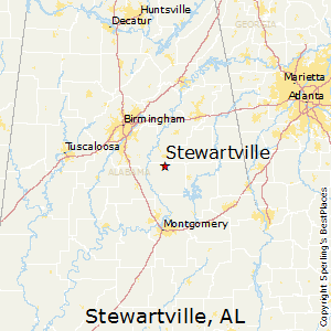 Stewartville,Alabama Map