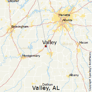 Valley,Alabama Map
