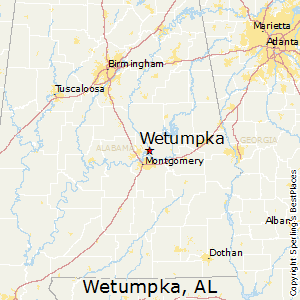 Wetumpka,Alabama Map