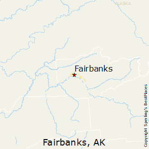 Fairbanks,Alaska Map