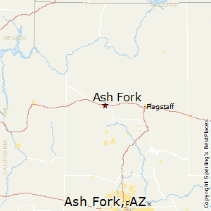 Ash_Fork,Arizona Map