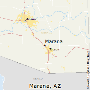 Marana,Arizona Map