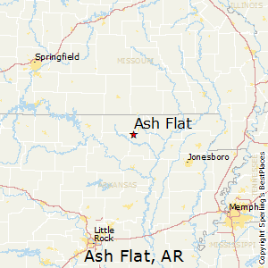Ash_Flat,Arkansas Map