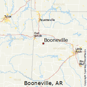 Booneville,Arkansas Map