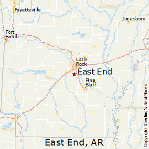 East_End,Arkansas Map