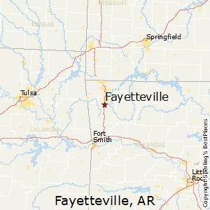 Fayetteville,Arkansas Map