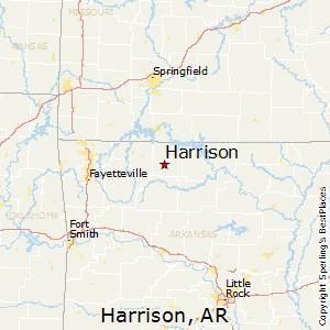 Harrison,Arkansas Map