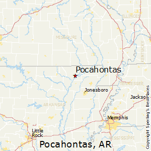 Pocahontas,Arkansas Map