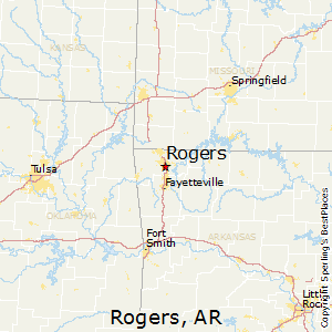 Rogers,Arkansas Map