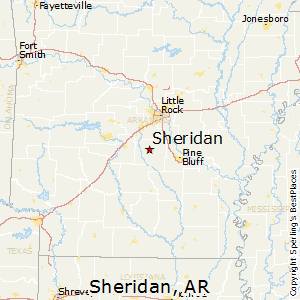 Sheridan,Arkansas Map