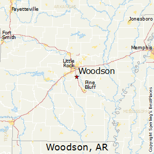 Woodson,Arkansas Map