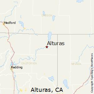 Alturas,California Map
