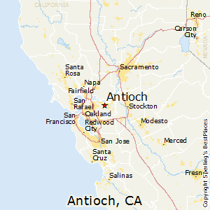 Antioch,California Map
