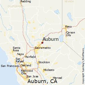 Auburn,California Map
