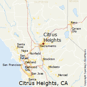 Citrus_Heights,California Map
