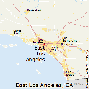 East_Los_Angeles,California Map