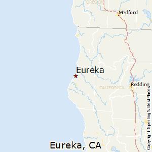 Eureka,California Map