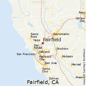 Fairfield,California Map