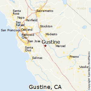 Gustine,California Map