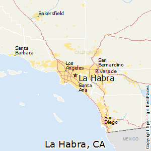 La_Habra,California Map