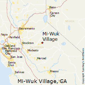 Mi-Wuk_Village,California Map