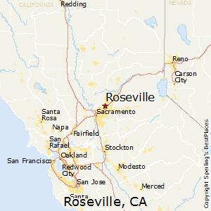 Roseville,California Map