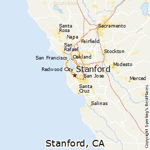Stanford,California Map