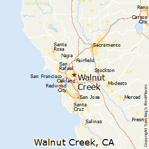 Walnut_Creek,California Map
