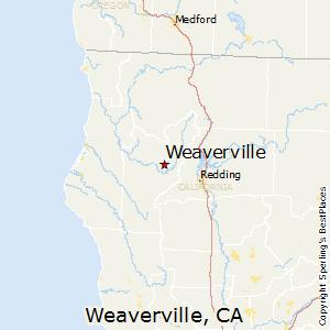 Weaverville,California Map