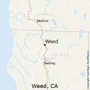 Weed,California Map