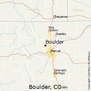 Comparison Denver Colorado Boulder Colorado - Usa map denver colorado