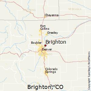 Brighton,Colorado Map