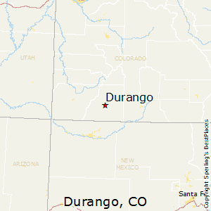 Durango,Colorado Map
