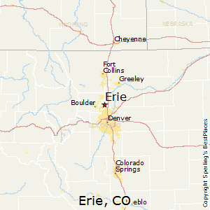 Erie,Colorado Map