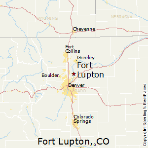 Fort_Lupton,Colorado Map