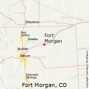 Fort_Morgan,Colorado Map