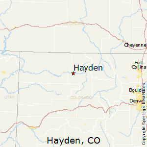 Hayden,Colorado Map