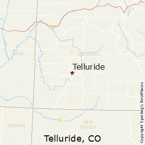 Telluride,Colorado Map