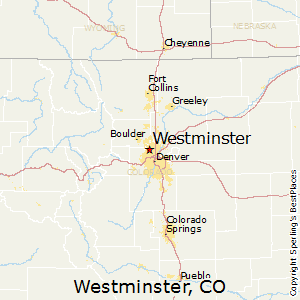 Westminster,Colorado Map