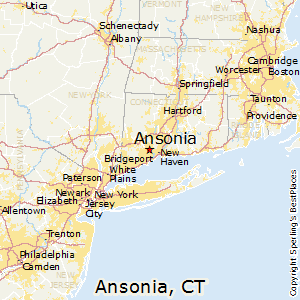 Ansonia,Connecticut Map