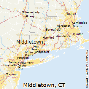 Middletown,Connecticut Map