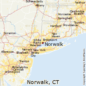 Norwalk,Connecticut Map