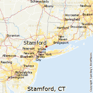 Stamford,Connecticut Map