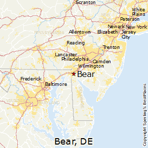 Bear,Delaware Map